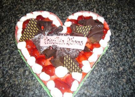 Gâteau coeur anniversaire